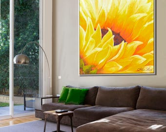 Large Wall Art, Flower Wall Art, Contemporary Art, Paintings on Canvas, Modern Canvas Art, Modern Painting, Large Painting, New Home Decor