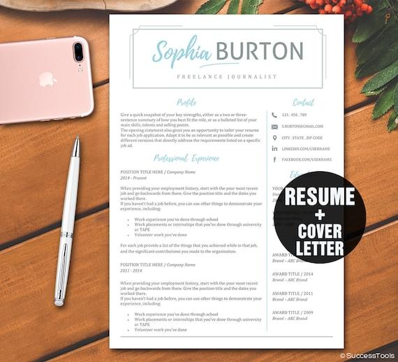 resume template word    teacher resume design    instant