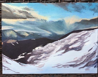 High Snow(Acrylic On Canvas Board)