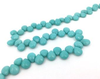 10pc 9x10 Dyed Jade Stone Teardrop Gemstone Bead Turquoise