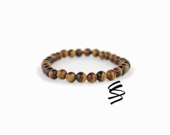 Tigers Eye Bracelet, Tigers Eye Jewelry, Natural Tigers Eye, Tiger Eye Beads, Tiger Eye Bracelet, Gemstone Bracelet, Healing Stone Bracelet
