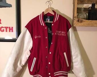 Vintage Red/White Varsity Jacket