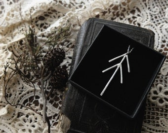 Zhingwaak - Pine Tree Talisman (sterling silver) for good luck, prosperity, health, longevity and wisdom