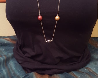Tri-color Freshwater Pearl Necklace