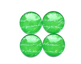 Glass magnets - green magnets - pretty magnets - office magnets - fridge magnets - green decor - office supplies - magnet boards