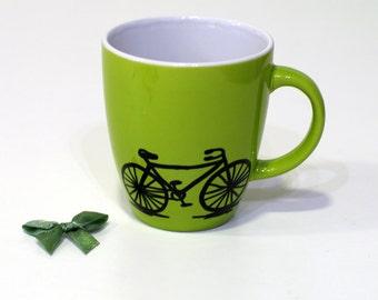 Bicycle gifts for Cyclists Bike mug Bike gift Bike coffee mug Fahrrad Bicycle mug Bike decor Bike mugs Bike art Bicycle art Cycler gift