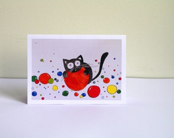 Funny birthday card for boyfriend Anniversary card funny cards cats birthday - greeting cards happy birthday card - cute cards with animals