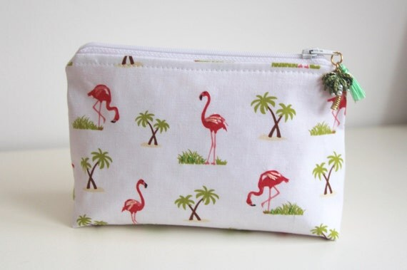 Flamingos Makeup Bag Jewelry Pouch Cosmetic Bag