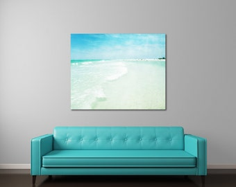 Beach Wedding Gift For Couple, Fine Art Photography On Canvas, Peaceful Seacape Art, Unique Wedding Gift, Canvas Gallery Wrap