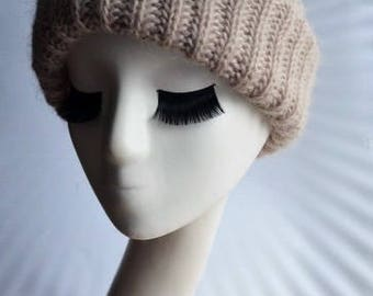 Knitted Hat/Knitted Beanie for Women/Womens Winter Hat/Mohair Knit Hat/Mohair Beanie Hat/Tak Ori