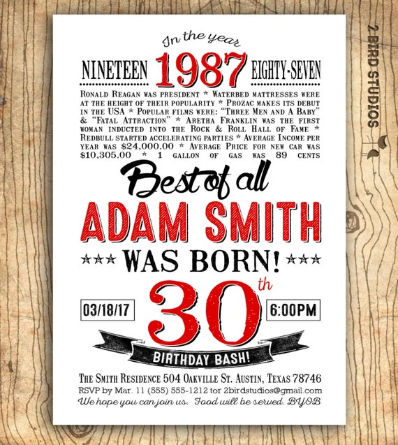 30th birthday invitation surprise 30th birthday party invitation il570xn filmwisefo