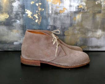 Vintage Boots / Hand Crafted Italian Suede and Leather Boots Vero Cucio /Size 7M / Men's or Women's Boots