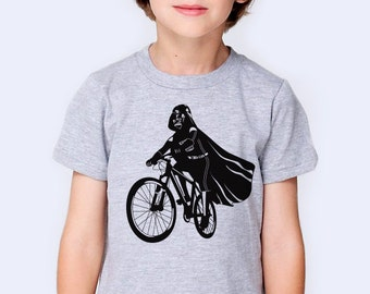 Darth Vader Is Riding It kids t-shirt, Star Wars funny print shirt, graphic tee for children, gift for son/grandson,biker shirt,cyclist gift