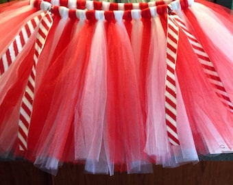 Candy Cane - Red & White Adult Tutu - Juniors, Misses, Womens, Plus Size