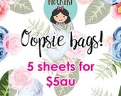 Oopsie Bags / 5 Sheets of *imperfect* stickers / Planner Stickers