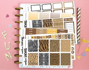 SALE! Last one! Animal Print Skin Planner Kit / Planner Stickers for use with the Erin Condren LifePlanner(TM)