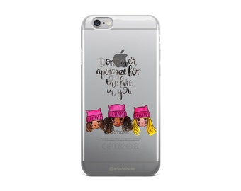Women's March iPhone Case | Clear iPhone case | Custom iPhone case | Gift for Her | Gift Idea | Calligraphy | Watercolor Case | Girl Power