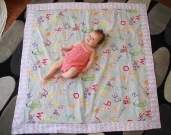 Waterproof Baby Play Mat - G is for Groovy