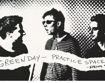 Green Day Practice Space  Spring 1995  Rare Vintage Poster