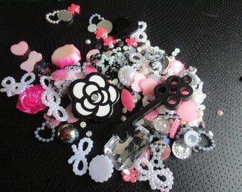 flower and key Decoden / embellishment bundle