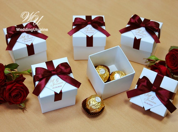 Diy Wedding Gift Ideas For Guests: Elegant Wedding Bonbonniere Wedding Favor Boxes With