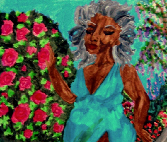 "Archival PRINT of Original Painting, ""EVE,"" by Hoosier Artist Stacey Torres"