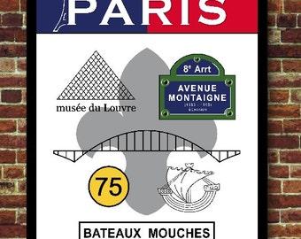Paris France Poster Decoration travel print poster
