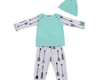 3PC Baby Boy Infant & Toddler Boutique Clothing Set - Spring, Summer, Fall, Winter