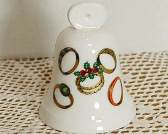 1977 Noritake Christmas Bell 12 Days of Christmas Five Golden Rings