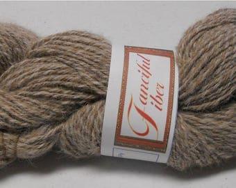 Handspun 100%  Llama Yarn 3 Ply  Light Brown 9.55 oz 263 yd DK 11 WPI  (27)