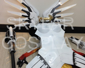 OVERWATCH OW Mercy Angela Ziegler cosplay costume&prop weapon gun