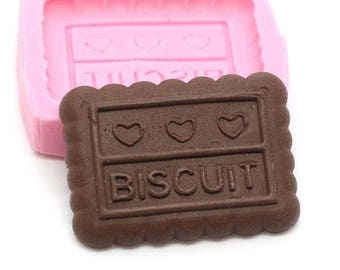 Mold Miniature cookie rectangular 28 mm silicone