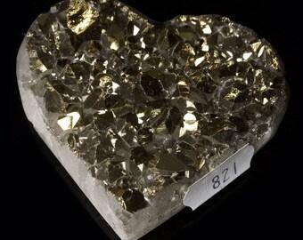 Titanium Aura Quartz Crystal Heart 4.0 oz. A-821