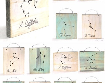 Sagittarius Constellation Zodiac Sign - Reclaimed Wood Signs
