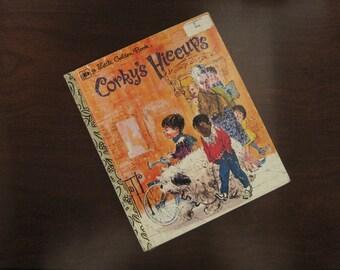 Corky's Hiccups – Vintage Children's Little Golden Book – 1977 Second Golden Press Printing