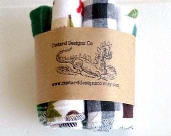 Cloth wipes- baby wipes- flannel wash cloths - baby washcloths - boy baby wipes- reusable cloth wipes- baby shower gift - wipes
