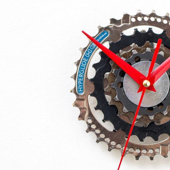 Steampunk Wall Clock, Bicycle Wall Clock, Modern Wall Clock, Industrial Wall Clock,  Bike Wall Clock, Unique Wall Clock, Steampunk Gift