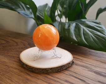 Orange Calcite Sphere 50mm, healing crystal
