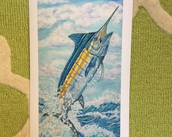 Blue Marlin Print
