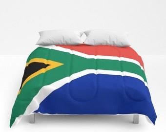 South Africa Flag Comforter South Africa Flag Duvet South Africa Flag South African Comforter South African Duvet
