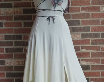 Vintage 1970's Prom Disco Shoulder Bearing Dress