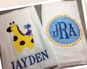Baby Burp Cloths, Personalized Burp Cloth, Baby Burp Cloth, Burp Cloth Set, Baby Girl Burp Cloth, Baby Boy Burp Cloth