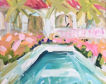 Pool Print, various sizes, paper or canvas, Cabanas