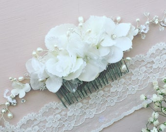 1 x Hydrangaes and Lace haircomb vine