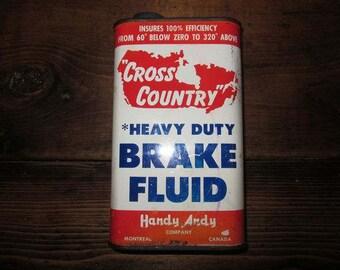Cross country heavey duty brake fluid oil can