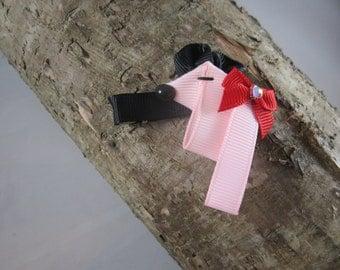 NEW doggy ribbon art hair clip