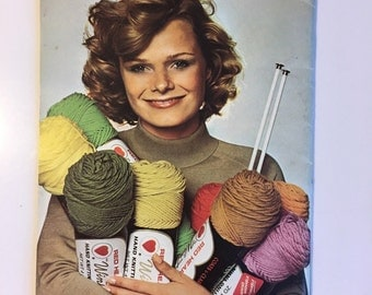 Learn to Knit paperback seventies vintage seventies 1970s 70s knitting how to guide hippie boho bohemian