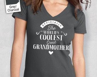 Cool GreatGrandmother, Grandmother Shirt, Grandmother Gift, Great Grandmother T-Shirt, Great Grandmother Birthday Gift, Grandmother Present