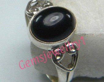Black Onyx Ring, Black Stone Ring,Stone ring , silver ring, Silver overlay Ring, Black Onyx ring, Size 5 6 7 8 9 10 11 12