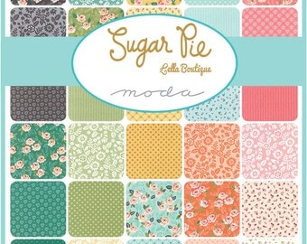SALE!! Fat Quarter Bundle Sugar Pie by Vanessa Goertzen Lella Boutique for Moda-34 Fabrics